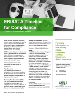 ERISA A Timeline for Compliance